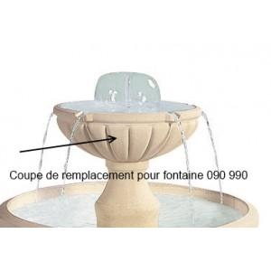 Petite coupe supérieure en pierre pour fontaine cascade Grandon 090990