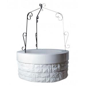 Puits en pierre reconstituée, Blanc, puits de jardin Saintongeais 70 à 140 cm, achat/vente, pas cher