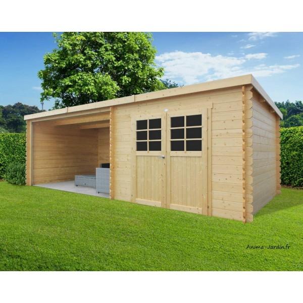 Abri de jardin en bois rohan toit plat emboitable 2 - Abri de jardin pas chere ...
