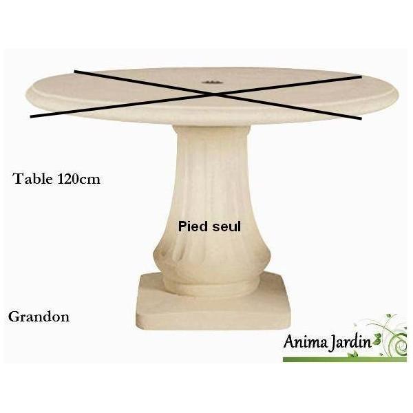 En En ReconstituéeRonde Pierre ReconstituéeRonde Pierre Table 120cmGrandonAchatvente Table EHI2YWD9