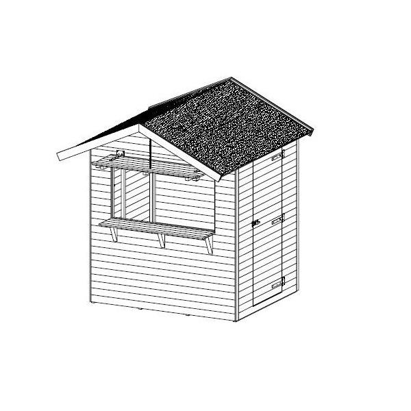 abri de jardin en bois march de no l petit mod le autoclave solid pas cher. Black Bedroom Furniture Sets. Home Design Ideas