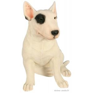 Bull Terrier,  40 cm en résine, déco de jardin, Riviera, achat, chien, animal