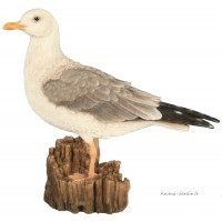 Mouette, 36 cm en résine, déco de jardin, Riviera, achat, oiseau, animal, bord de mer