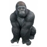 Gorille en résine, 107 cm, déco de jardin, Riviera, achat, animal sauvage, singe