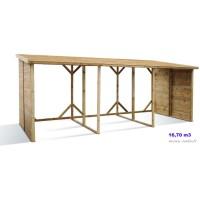 Grand abri bûches en bois autoclave, 16,7 stères, rangement bûches, pas cher, achat
