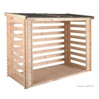 Abri bûches en bois avec plancher, 3,5 stères, rangement bûcher, achat
