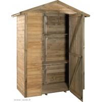 Armoire de rangement, bois autoclave, 0,98 m², petit abri de jardin, pas cher, achat