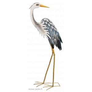 Héron en métal, 100 cm, déco de jardin, Riviera, achat, oiseau, animal