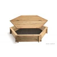 Bac à sable en bois avec couvercle, enfant, autoclave, pas cher, achat