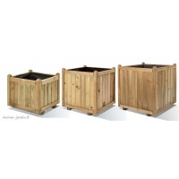 Bac carré en bois autoclave, Vendôme, pas cher, pot, bac à fleurs, achat/vente