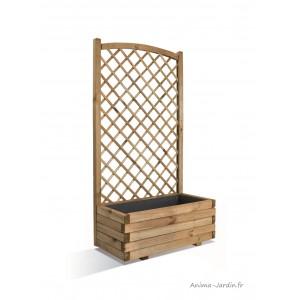 Bac lierre, 80 cm, treillis, arc, bois autoclave, bac à fleurs, pas cher, achat/vente