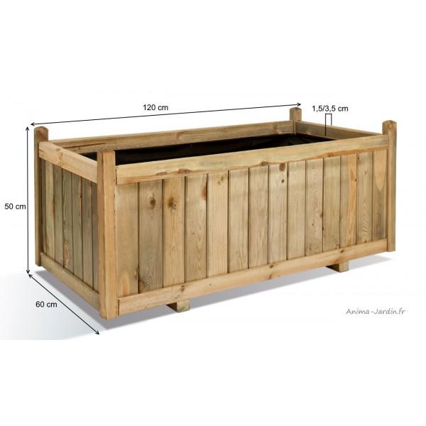 jardini re 120 cm vend me bois autoclave bac fleurs. Black Bedroom Furniture Sets. Home Design Ideas