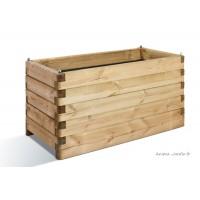 Jardinière OLEA en bois 100cm pour plantes, autoclave, bac à fleurs, achat, vente