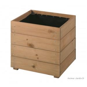 Bac carré ESSENCIA de 40 cm en bois autoclave, Essencia, bac à fleurs, plantes, pas cher, achat