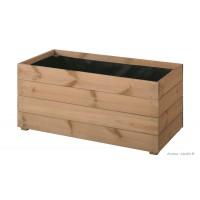 Bac rectangulaire ESSENCIA de 80 cm en bois autoclave, bac à fleurs, plantes, pas cher, achat