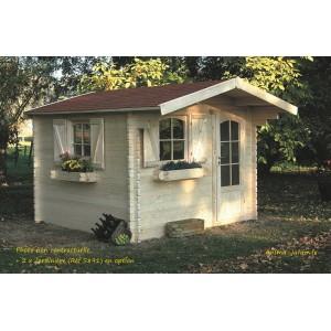 abri de jardin en bois 40mm chamonix 1 porte solid pas cher habitable achat. Black Bedroom Furniture Sets. Home Design Ideas