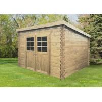 Abri de jardin en bois 28mm, Brest, 2 portes, Solid, pas cher, achat, vente
