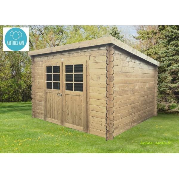 Abri de jardin en bois traité autoclave 28mm, Brest, 2 ...