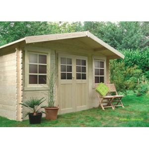 Abri de jardin en bois 28mm, Dole, 2 portes, Solid, pas cher, achat, vente