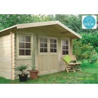 Abri de jardin en bois traité autoclave, 28mm, Dole, 2 portes, Solid, pas cher, achat, vente