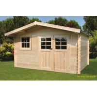 Abri de jardin en bois 34mm, Salzburg, 10m², 2 portes, Solid, pas cher, achat