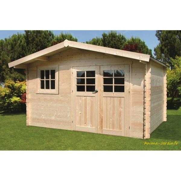 Abri de jardin en bois 34mm salzburg 10m 2 portes - Abri de jardin pas chere ...
