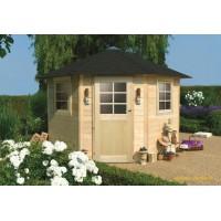 Abri de jardin en bois 28mm, Nancy, 5m², 1 porte, Solid, pas cher, achat, vente