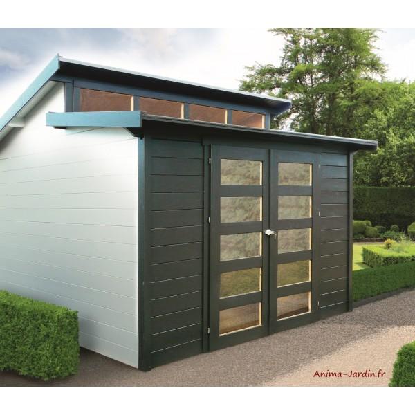 Abri de jardin en bois 28mm, Milano, 9m², 2 portes, Solid ...