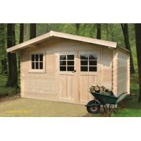 Grand abri de jardin en bois 34mm, Linz, 13m², 2 portes, Solid, pas cher, achat