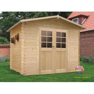 Abri de jardin en bois 19mm, Amberg, 6m², 2 portes, Solid, pas cher, achat, vente