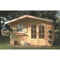 Abri de jardin en bois 40mm, Habitable, Chamonix, 11m², 2 portes, solid, pas cher, achat