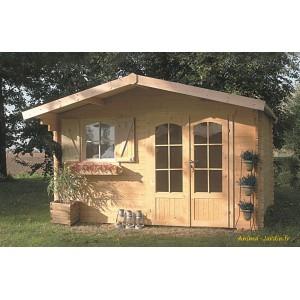 Abri De Jardin En Bois 40mm Habitable Chamonix 11m 2 Portes Solid Pas Cher Achat