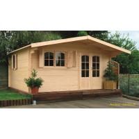 Grand abri de jardin en bois 40mm, habitable, Chamonix, 18m², 2 portes, solid, pas cher, achat