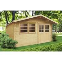 Abri de jardin en bois 28mm, Niort, 11 m², 2 portes, Solid, pas cher, achat, vente