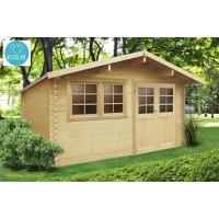 Abri de jardin en bois traité autoclave 28mm, Niort, 11 m², 2 portes, Solid, pas cher, achat