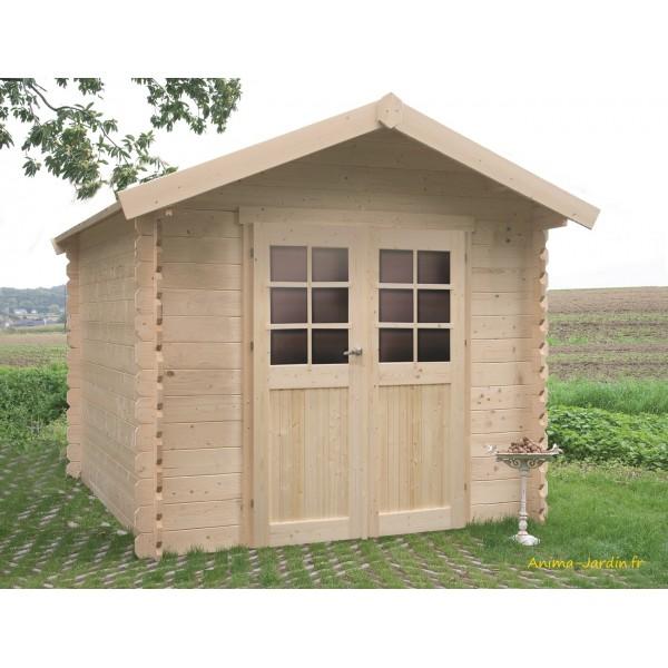 petit abri de jardin en bois 28mm n mes 5 m 2 portes solid pas cher achat
