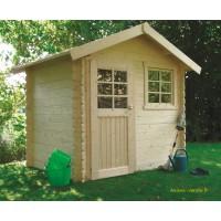 Petit abri de jardin en bois 28mm, Saran, 5 m², 1 porte, Solid, pas cher, achat