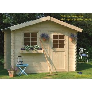 Abri de jardin en bois 28mm, Sologne, 8 m², 1 porte, Solid, pas cher, achat, vente