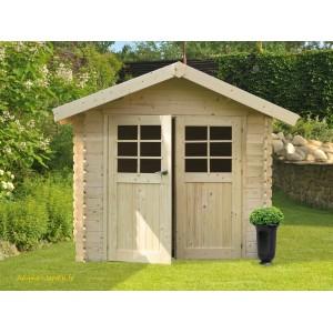 Abri de jardin en bois 28mm, Chartres, 6 m², 2 portes, Solid, pas cher, achat, vente