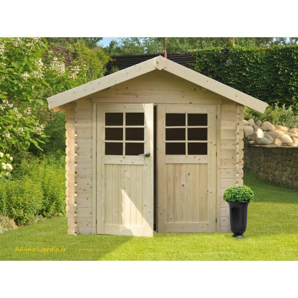 Abri de jardin en bois 28mm chartres 6 m 2 portes - Abri de jardin pas chere ...