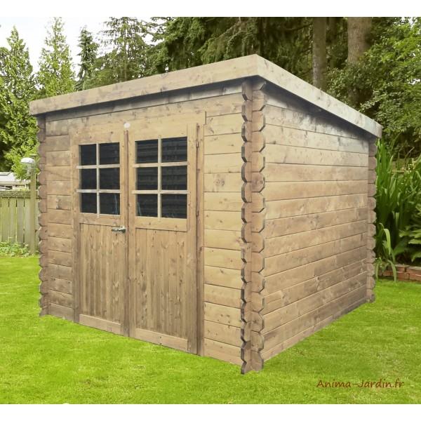 Abri de jardin en bois 19mm hof 5m 2 portes solid - Abri de jardin pas chere ...
