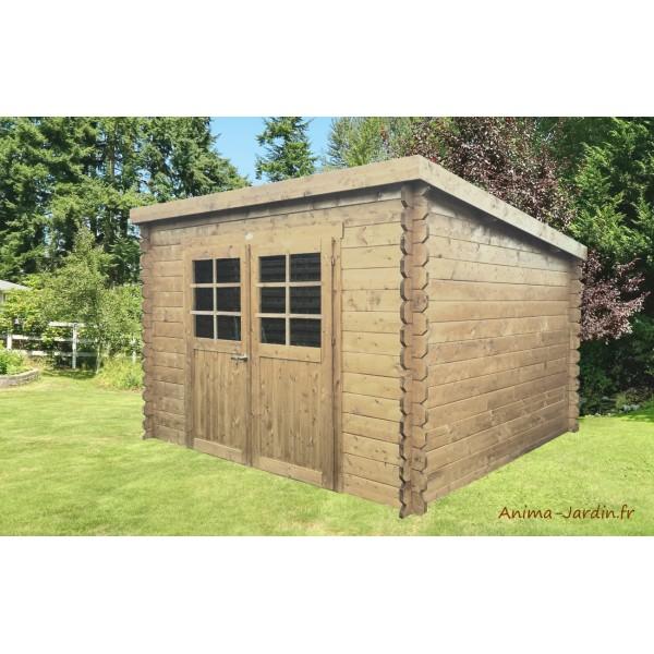 Abri de jardin en bois 28mm riom 6m 2 portes solid - Abri de jardin pas chere ...