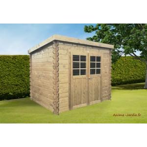 Abri de jardin en bois 19mm, toit monopente, Jena, 6m², 2 portes, Solid,  pas cher ca5559f36024