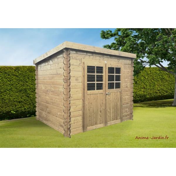 abri de jardin en bois 19mm toit monopente jena 6m 2 portes solid pas cher. Black Bedroom Furniture Sets. Home Design Ideas