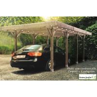 Carport bois autoclave 3 mètres, abri pour voiture, Solid,  pas cher, achat, vente