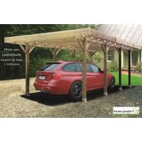 Carport bois autoclave 4 mètres, abri pour voiture, Solid,  pas cher, achat, vente
