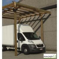 Grand carport bois autoclave, 3 mètres, abri pour grands véhicules, camping-car, Solid,  pas cher,