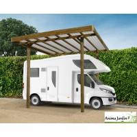 Grand carport bois autoclave 4 mètres, abri pour grands véhicules, Camping-car, Solid,  pas cher