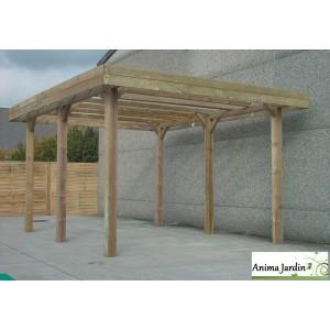 Grand carport bois autoclave 6 mètres, abri pour grands véhicules, Hauteur, Solid,  pas cher