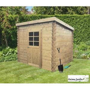 Abri de jardin en bois 19mm, monopente, Passau, 3m², 1 porte, Solid ...